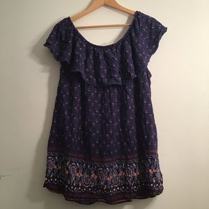 Boho Paisley blouse for 3X(or sift dress for sz M)